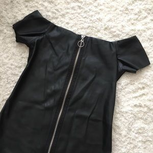 Zara Leather Dress
